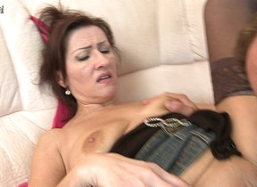 Naughty housewife fucking hard
