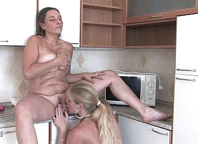 Naughty MILF increased by a hot babe go at it