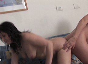 Two mature lesbians strive fun together