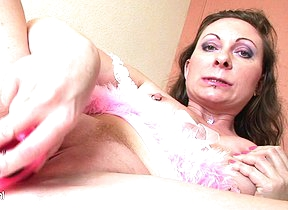 When Yulia disjointedly playing with herself she only stops when she cums