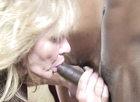 Kinky mama munching on a bunch of perfidious cocks