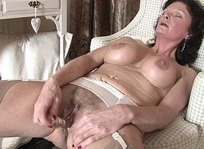 Sexy British MILF loves to masturbate