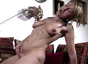 Kinky housewife playing all alone