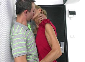Naughty housewife sucking and fucking hard