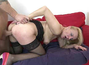 Horny mature slut having great sex encircling her kickshaw boy