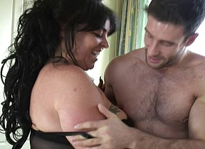 Naughty British big breasted housewife fucking hard and long