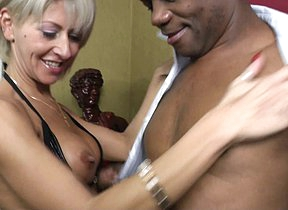 Hot MILF loving hardcore interracial sex