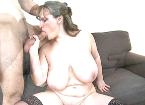 Big breasted housewife shacking up down her toy boy