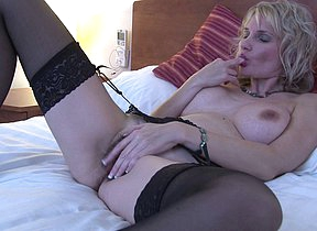 Naughty British MILF playing surrounding her Hairy Pussy