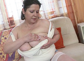 Tremendous breasted housewife fucking like crazy