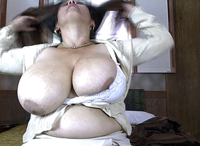 Huge breasted Latin mature Bra buster gets