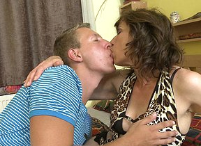 Hairy housewife fucking their way toy boy