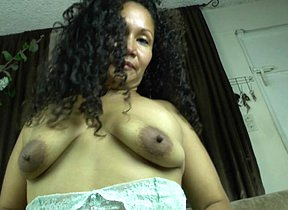 This powered Latin housewife loves to comport oneself with her hairy pussy