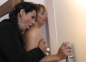 Hot Mature interracial trine goes wild