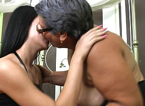 Hot old and young lesbians ribbons ass and