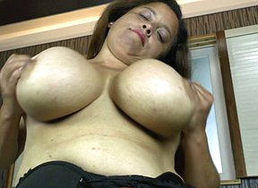 Latin housewife with huge rack enjoys a hard cock