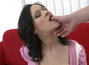Hot Busty MILF sucking added to fucking in POV style