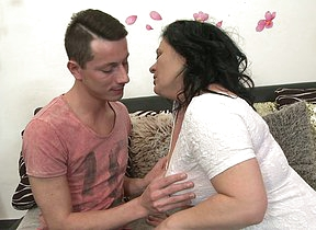 Horny housewife gender her toy boy