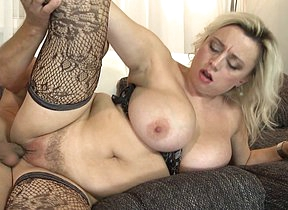 Hot big breasted MILF sucking and fucking hard
