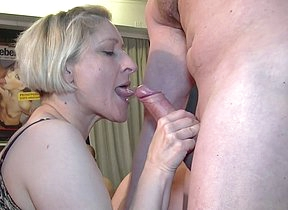 Roasting German mature gangbang