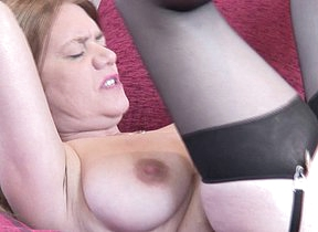 Horny British mature housewife doing her toy boy