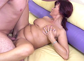 Hot housewife fucks her toyboy