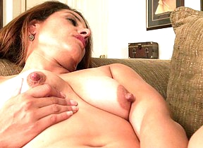 Hot American mom playing with herself