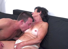 Horny granny having fun with will not hear of toy boy