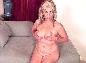 Horny blonde American housewife getting wet and wild