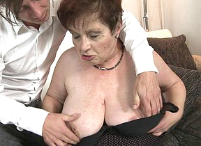 Chubby mature slut fucking and sucking her toyboy