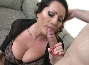 Huge breasted MILF fucking with an increment of sucking her ass off on POV style