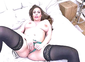 Steamy hot British mom playing with herself