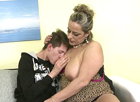 Naughty mature lady fucking and sucking will not hear of toy boy
