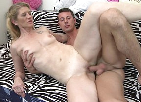 Horny housewife doing a younger lover