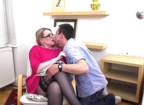 Horny mature lady doing her plaything crony hard and long