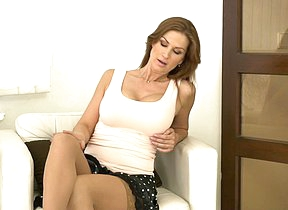 Steamy hot mom playing with herself