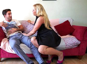 British housewife fucking coupled with sucking