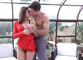 Cute British housewife getting naughty with her lover