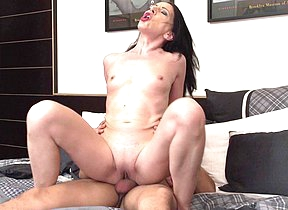 Naughty housewife having it away her toy boy