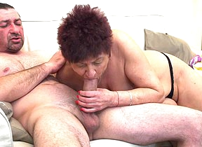 Shaved mature slut getting nasty on a hard cock