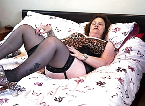 Naughty chubby lady from the UK playing with herself
