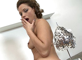 This steamy hot hairy mom loves to play alone