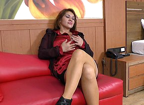 Naughty Latin housewife having the time of her life