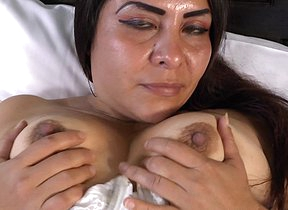 Uncompromisingly naughty Latin housewife getting wet and wild