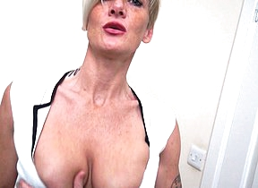 Kinky British mom playing with say no to pussy