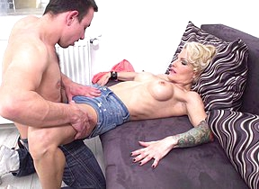 Hot steamy MILF fucking together with sucking