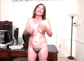 Hairy American mature lady effectuation with herself