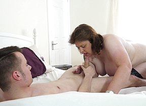 Horny British housewife playing less her toyboy