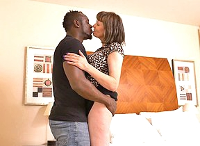 Horny British housewife cant get not that of her boyfriends big black cock