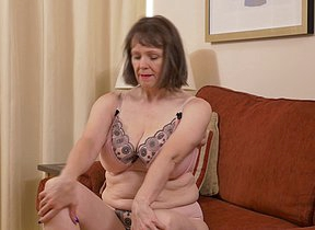 Big breasted housewife effectuation with herself